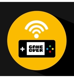 Video game connection share icon design vector