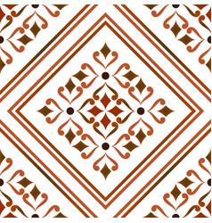vintage tile pattern vector image
