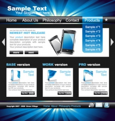 web site template vector image