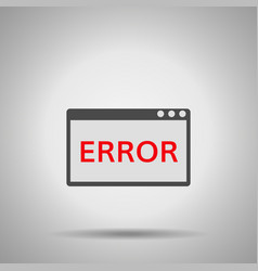 window operating system error vector image