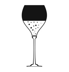Wine glass icon simple style vector