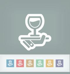 wine list icon vector image
