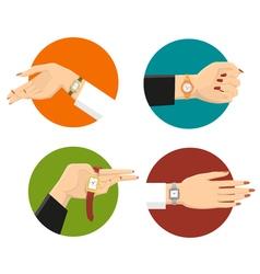 Women Wrist Watches Design Concept vector