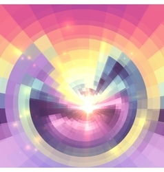 Abstract colorful technology concentric mosaic vector image vector image
