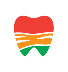 abstract tooth sign logo vector image vector image