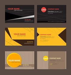 Business Name card set 2 vector image vector image