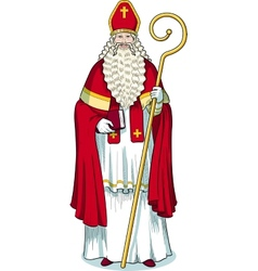 Christmas Character Sinterklaas colored vector image