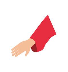 human hand symbol vector image vector image