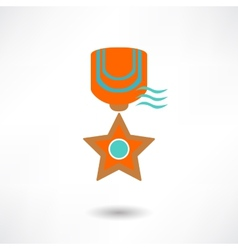Medal icon vector image vector image
