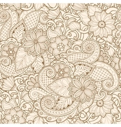 Ornamental seamless ethnic pattern Floral vector image