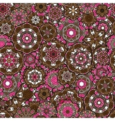 Seamless oriental ornamental pattern laced vector image vector image