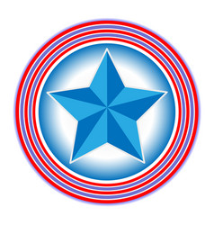 symbol of the us flag the star in the circles vector image vector image
