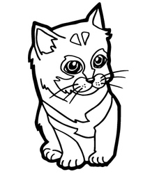 Cat coloring page for kid vector
