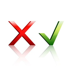 Check marks Yes or No vector image vector image