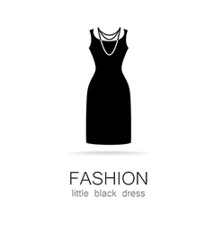 fashion little black dress template vector image vector image