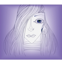 girl and tear vector image vector image