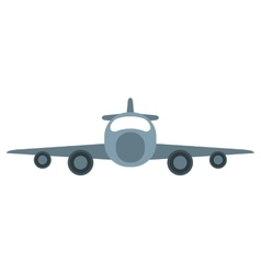 jet airplane private transport front view vector image