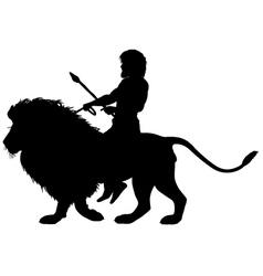 Lion rider vector image vector image