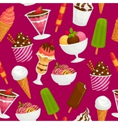 Seamless pattern with icecream Cartoon vector image