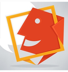 talking icon vector image vector image