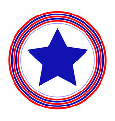 american symbol blue star rings simple vector image vector image