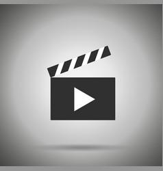 clap film board icon vector image