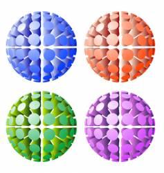 futuristic spheres vector image vector image