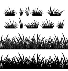 Grass silhouette seamless vector image vector image