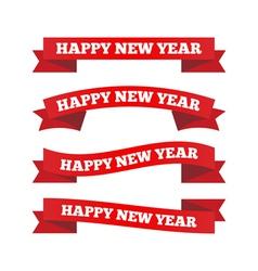 Happy new year ribbons vector image vector image