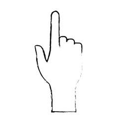 Human hand pointing finger touch concept vector