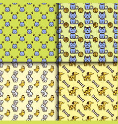 pet seamless pattern graphic domestic vector image vector image