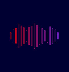 sound waves icon line icon with gradient vector image