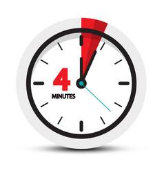 4 minutes clock icon four minute symbol vector