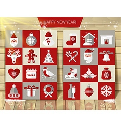 Christmas design icons set background vector image vector image