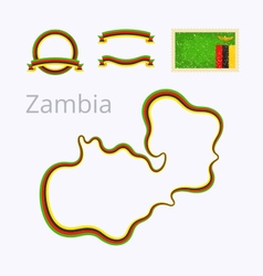 Colors of Zambia vector image