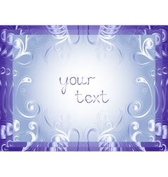 Greeting card in winter motifs vector image vector image