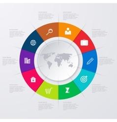 infographics ten options vector image