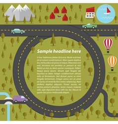 Summer landscape with roads vector image vector image