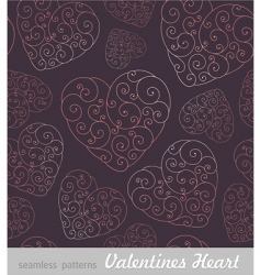 Valentine's hearts background vector image vector image