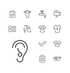 13 graphics icons vector