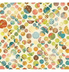 Abstract Retro Geometric circles pattern vector