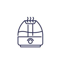 Air humidifier icon line vector