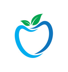 apple leaf eco logo vector image