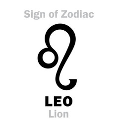 Astrology sign of zodiac leo the lion vector