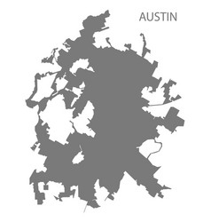 Austin texas city map grey silhouette vector