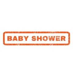 Baby Shower Rubber Stamp vector image