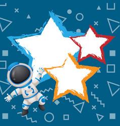 Banner astroneer star image vector