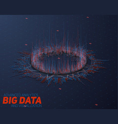 Big data circular perspective visualization vector