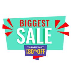 Biggest sale promotional banner design vector