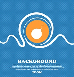 Bomb icon sign blue and white abstract background vector